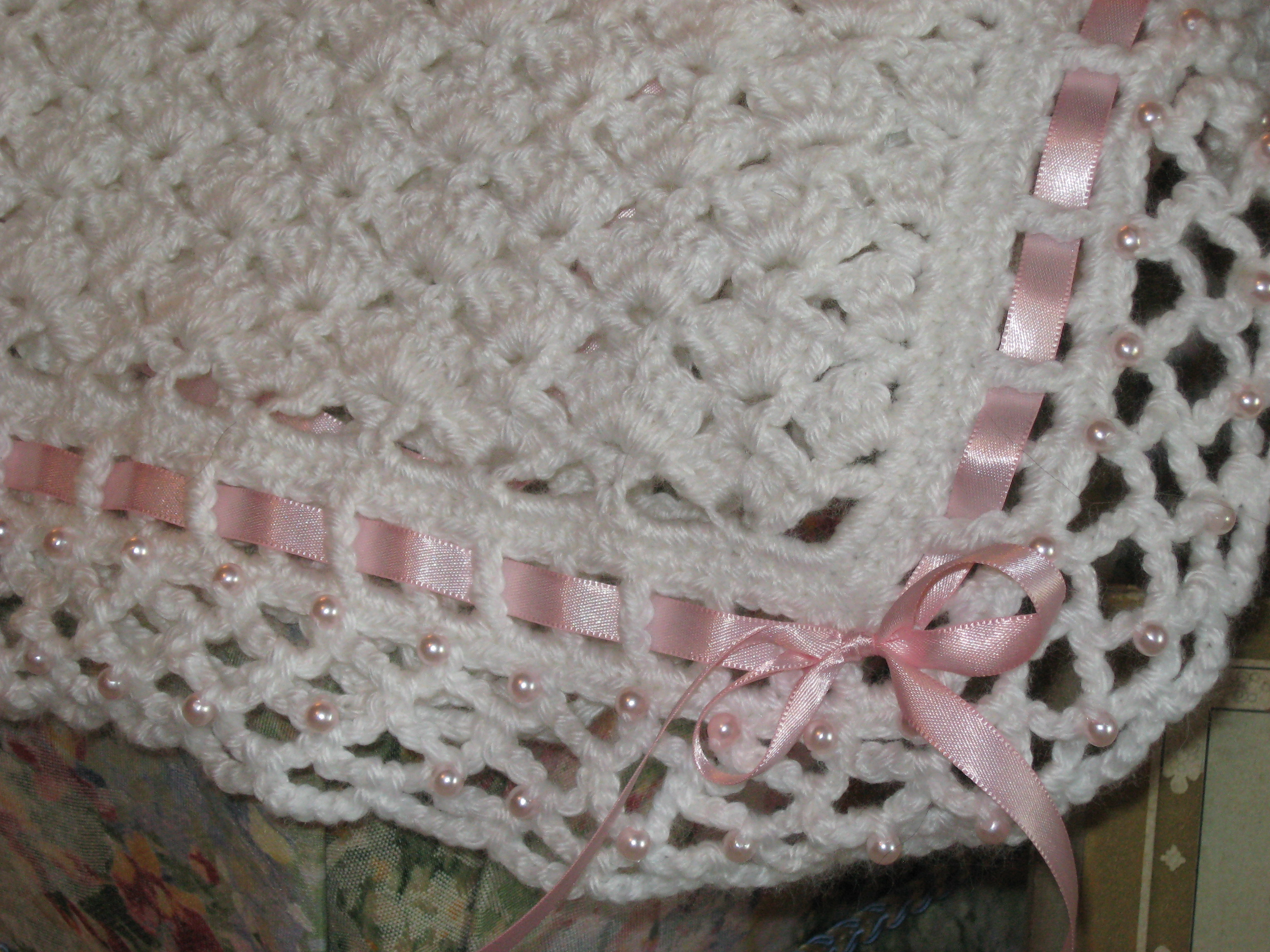 Free Crochet Patterns Christening Blankets : Alfa img - Showing > Knitted Christening Baby Blanket Pattern